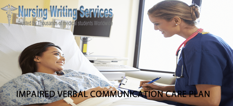 impaired verbal communication care plan writing services