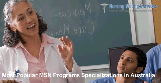 Most Popular MSN Programs Specializations in Australia