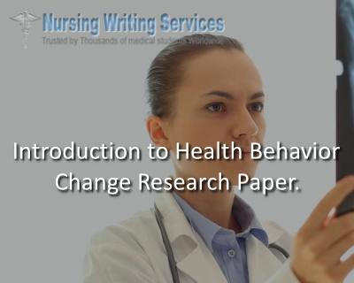 introduction to health behavior change Research Paper
