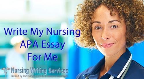 Write my nursing essay